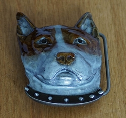 "Riem buckle  "" Bull terrier """