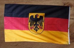 """Gevelvlag """" Duitse vlag met adelaar op schild """""""