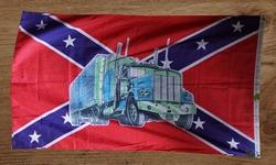 "Gevelvlag "" Rebel vlag met truck met oplegger """