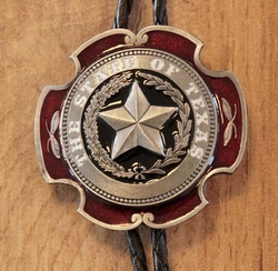 "Bolo tie  "" The state of Texas ""   Goudkleurig"