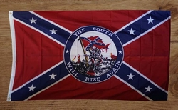 "Rebelvlag  "" The south will rise again """