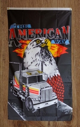 "Rebelvlag  "" The American way  ""  Vrachtwagen en adelaar"