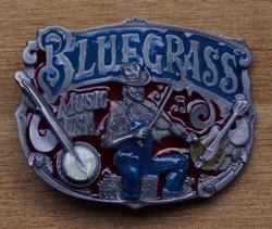 """Muziek gesp  """" Blue grass music """""""