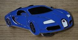 """Verzamel buckle  """" Blauwe sportauto """""""