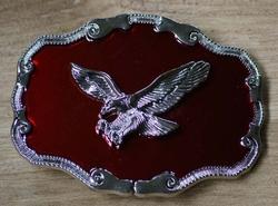 "Siergesp  "" Vliegende adelaar ""  Rood / zilver kleurig"