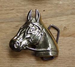 """Western gesp  """" Paard """"  goudkleurig"""