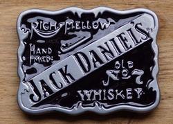 """Jack Daniels buckle """"Righ mellow, hand made UITVERKOCHT"""