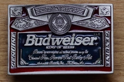 "Buckle / gesp  "" Budweiser King of beer """