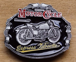 "Motor cycle buckle  "" Express velocette """