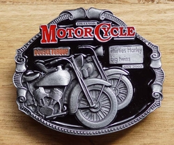 "Motor cycle buckle  "" Thirties Harley Big twins """