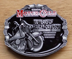 "Motor cycle buckle  "" 100 Years of Harley Davidson """