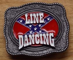 """Line dance buckle """" Line dancing / Rebelvlag """""""