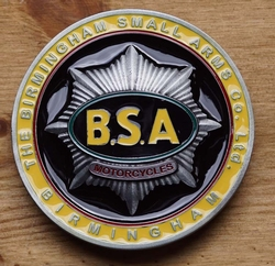 "Motor buckle  "" B.S.A. Mototcycles """