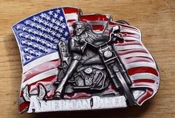 "Buckle / gesp  "" American biker """