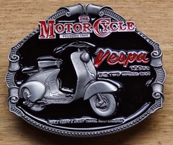 "Motor cycle buckle  "" Vespa 125 cc The two wheelcar """