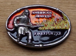 "Gesp  "" America's bravest Firefighter ""  ( Brandweerman )"