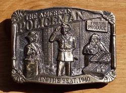 """Gesp  """" The American policeman """" Brons kleurig ( Politie )"""