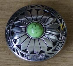 """Concho """" Western styl met groene steen """""""