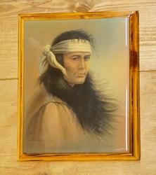 """Western schilderij """" Indiaan """""""