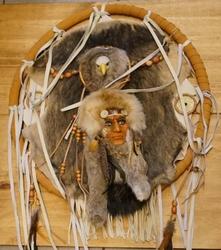 """Mandala  """" Indianen hoofd met adelaar """""""