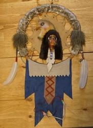 """Mandala  """" Indiaan met adelaar """""""