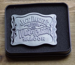 "Buckle   "" Jack Daniels ""  White rabbit saloon"
