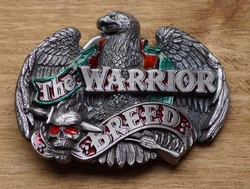 "Buckle / gesp  "" The Warrior breed ""  adelaar en doodshoofd"