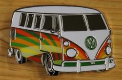 """Officiele volkswagen buckle  """" 8 personen hippie busje """""""