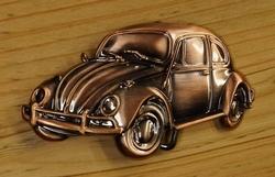 """Officiele VW buckle  """" Kever """"   Koper kleurig"""