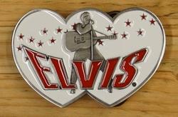 """Elvis gesp  """" Elvis """"  Hartvorming   Wit"""