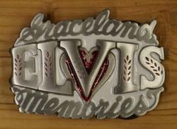 """Elvis gesp  """" Graceland Elvis memories """"  Wit"""