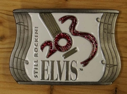 "Elvis gesp  "" Still Rockini Elvis ""   Wit"
