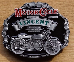 "Motor cycle buckle  "" Vincent """