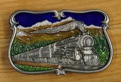"""Siergesp  """" Stoom locomotief in bergen landschap """""""