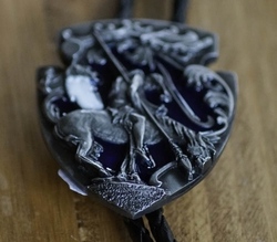"Large bolo tie  ""  End of the trail """