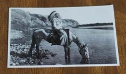 "Ansicht kaart  "" Indiaan op paard bij rivier  """