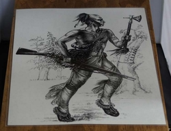 """Poster  """" Indiaan op jacht """""""