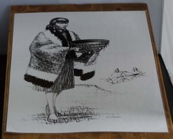"Poster  "" Indiaanse met waterbak """