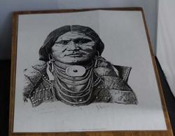 """Poster  """" Indianen hoofd """""""