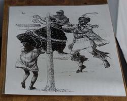 """Poster  """" Dansende indianen """""""