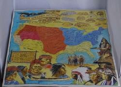 """Poster  """" Landkaart Amerika """""""