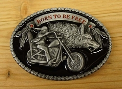 "Motor buckle  "" Born to be free """