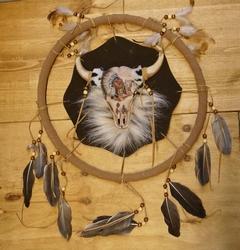 """Mandala  """" Stierenkop met indiaan """""""