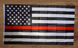 """Gevelvlag  """" Americaanse politie vlag """""""