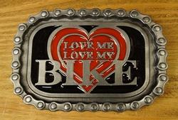 "Buckle / gesp  "" Love me, love my bike """