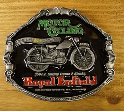 "Motor cycle buckle  "" Royal Enfield """