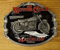 "Motor cycle buckle  "" Matchless """