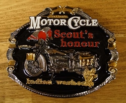"Motor cycle buckle  "" Scout's hounour indian """