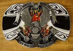 "Buckle  "" Four wheels move the body, Two wheels move the """