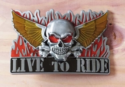 """Buckle / gesp  """" Live to ride """"   UITVERKOCHT"""
